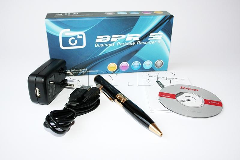 Камера с детектор за движение, скрита в химикалка