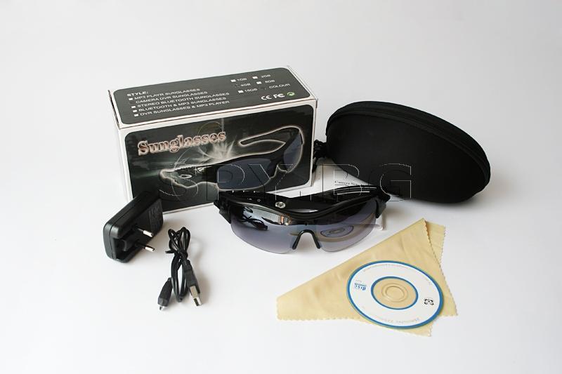 Камера и аудио рекордер в слънчеви очила