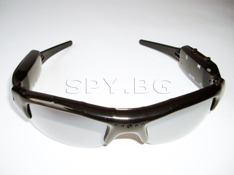 Скрита камера в слънчеви очила с памет и безжично излъчване