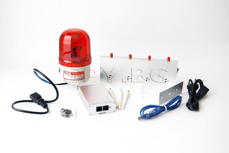 Детектор за GSM сигнал със сигнална лампа и аларма