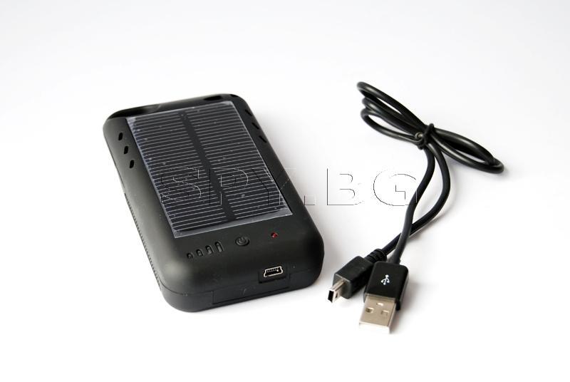 Соларно зарядно + външна батерия за iPhone 4S/4