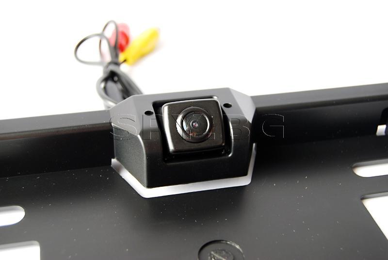 Мини камера в поставка за автомобилен номер