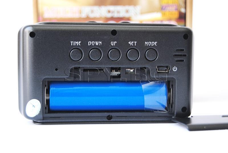 Камера в будилник с детектор за движение.