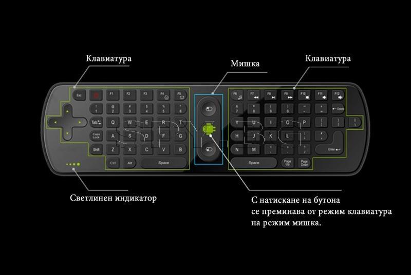 Air mouse и безжичнa мини клавиатура RC11