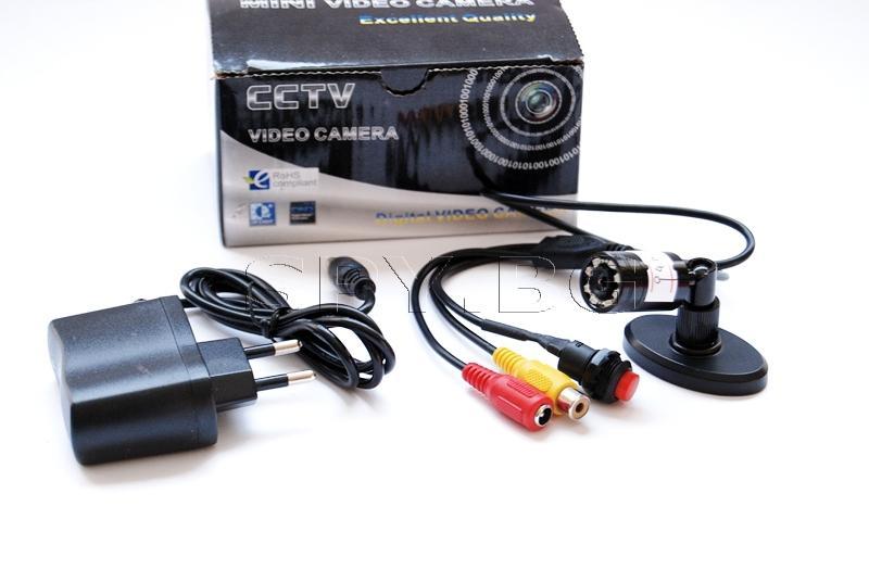 CCTV камера с инфрачервени диоди