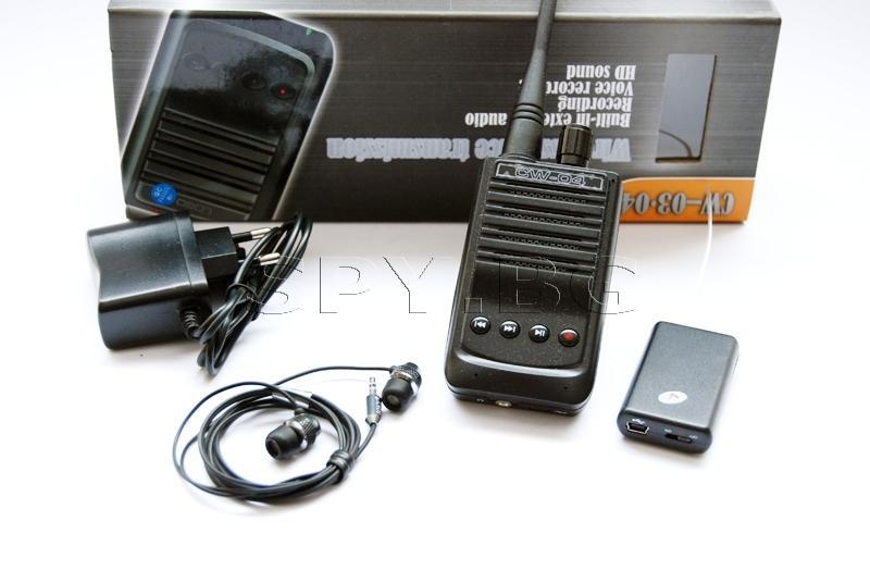 Комплект подслушвател и аудио приемник със запис