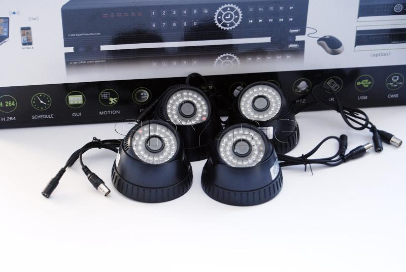 Комплект за видеонаблюдение - 8 камери