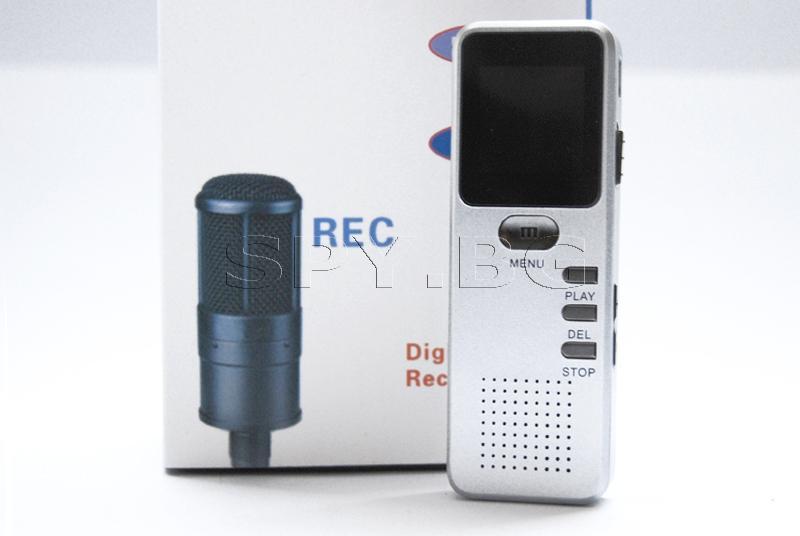 Сребрист диктофон