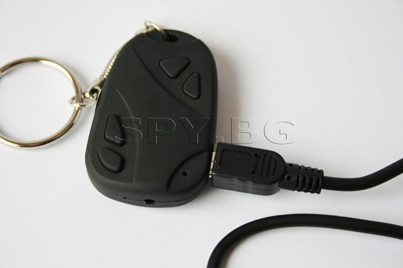 Скрита камера в дистанционно за аларма на кола