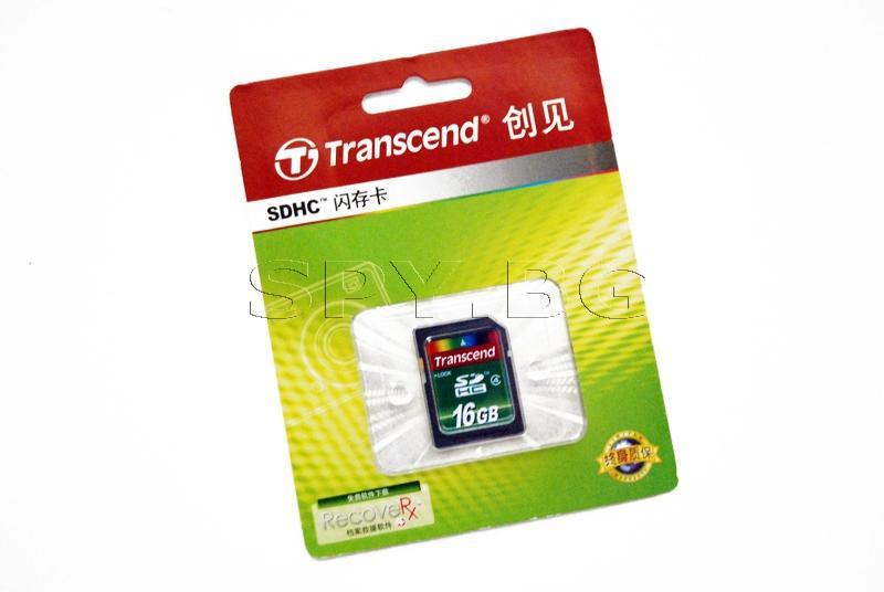 Transcend Мемори карта - 16GB