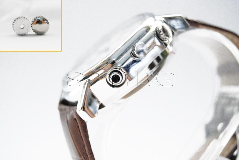 Камера в часовник с кожена каишка
