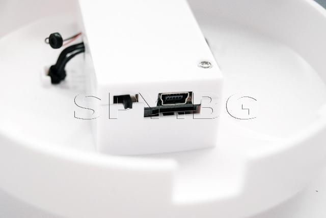 Камера, скрита в детектор за дим с детектор за движение