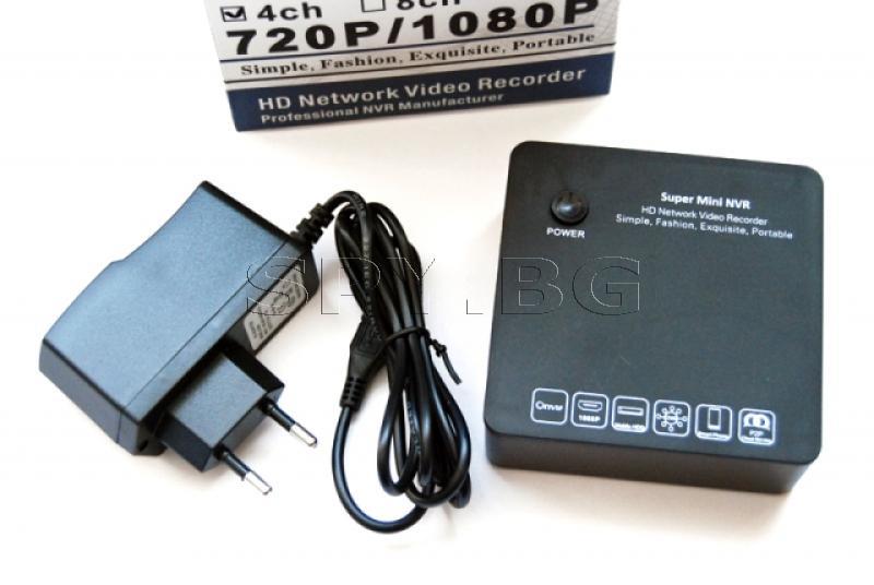Четири канален мрежов HD рекордер за IP камери