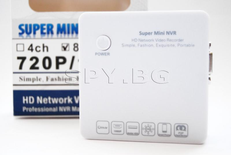 HD мрежов рекордер за осем IP камери