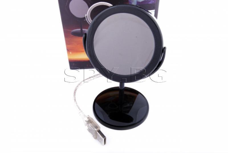 Скрита камера в имитация на козметично огледало