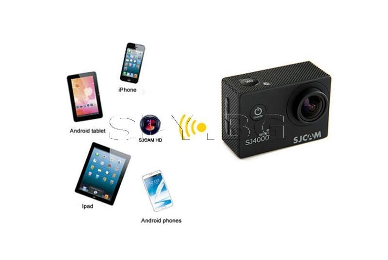 Спортна камера SJCAM SJ4000 WIFI за кола+втора батерия