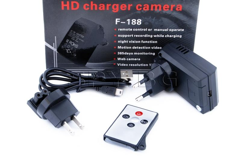Скрита камера в адаптер с дистанционно