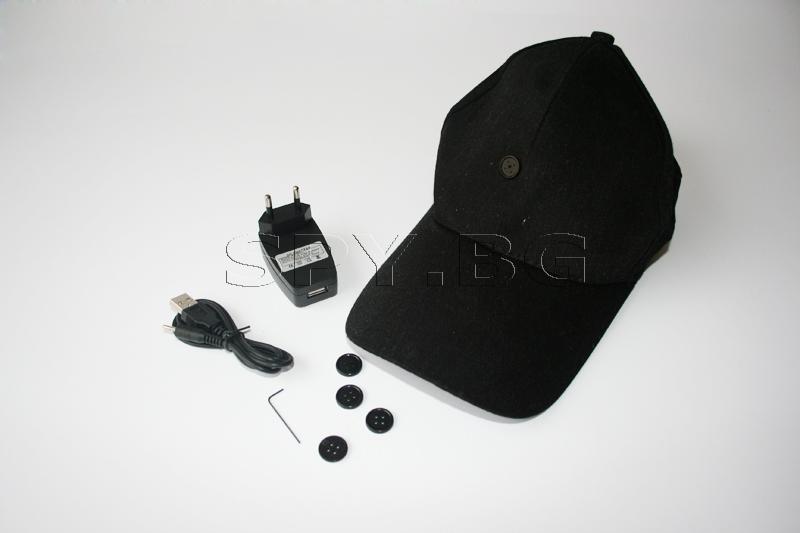 Безжична скрита камера в шапка с козирка (Номер: BC09)