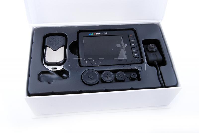 DVR, мини камера и дистанционно управление