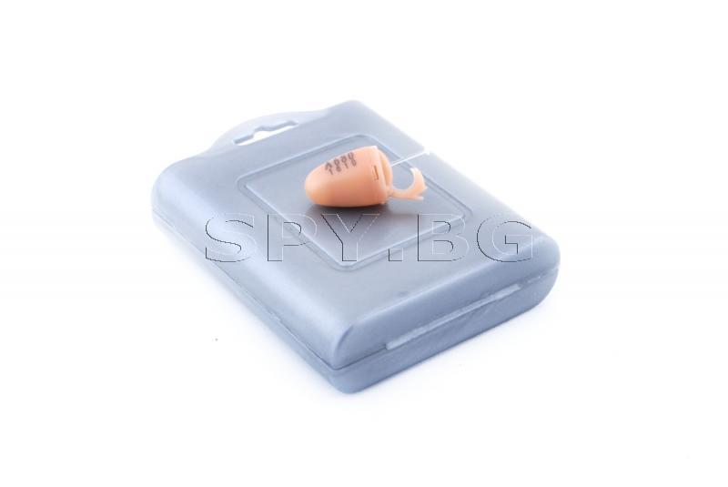Микрослушалка с телесен цвят и bluetooth приемник