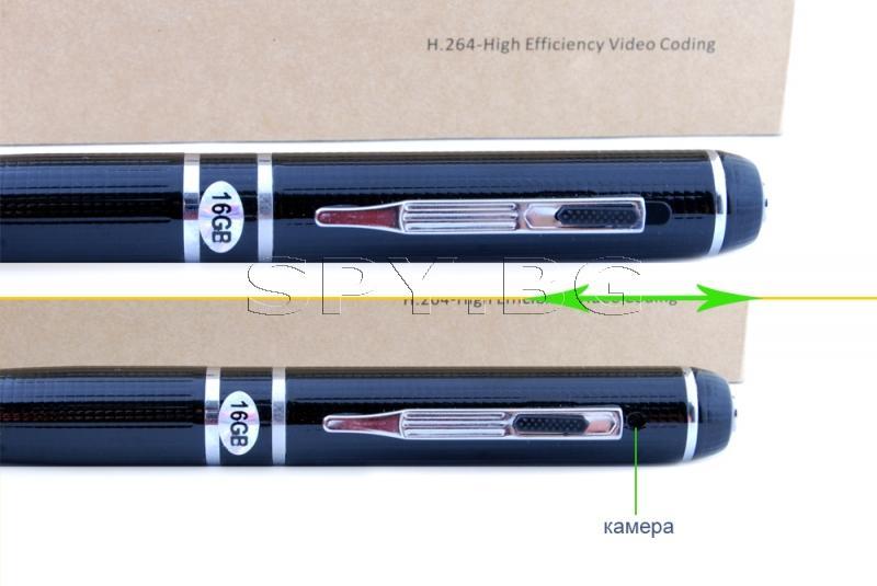 SuperHD химикалка със скрита камера 16GB