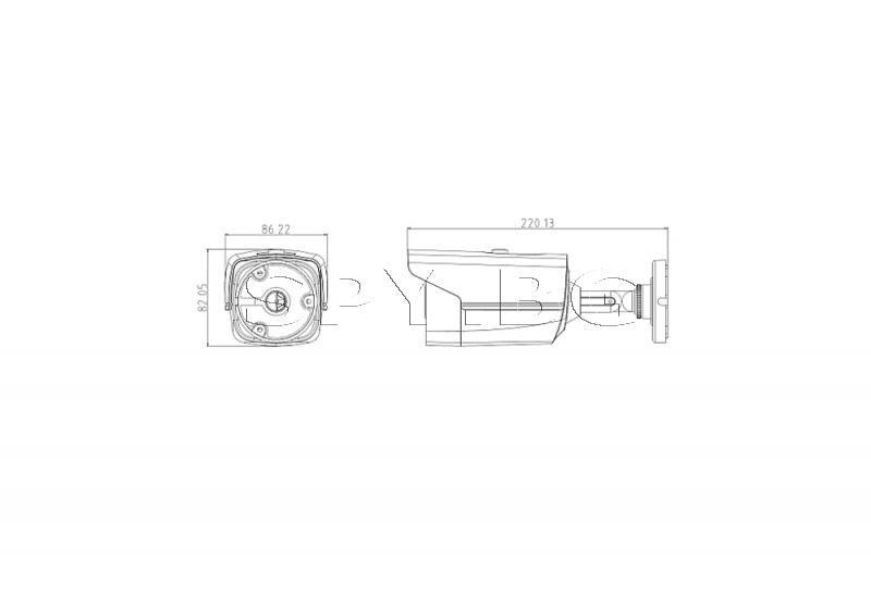 HD-TVI корпусна камера 2MP с обектив 3.6 мм HIKVISION