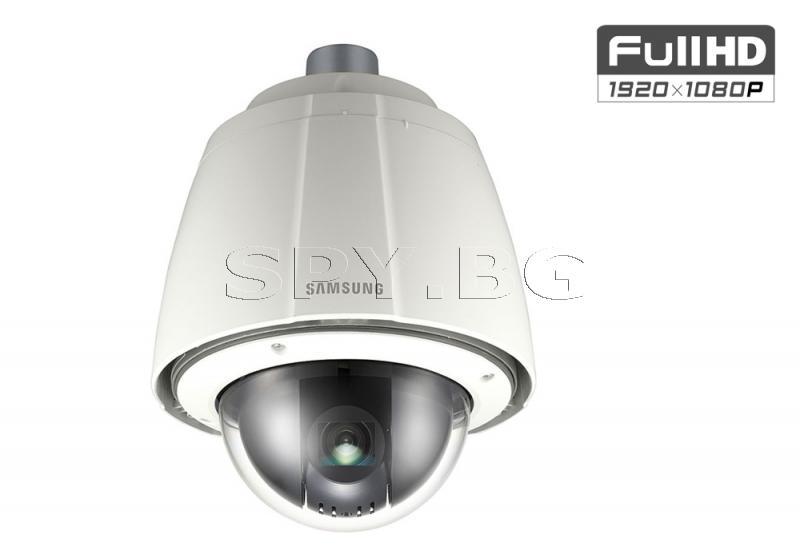 Управляема FullHD PTZ куполна IP камера Ден/Нощ Samsung