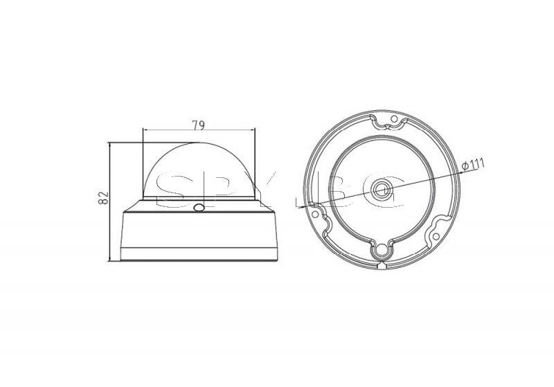 Kуполна IP камера 1.3MP HIKVISION