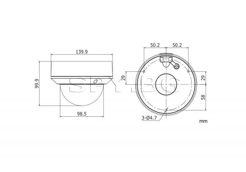 Мегапикселова куполна IP камера HIKVISION