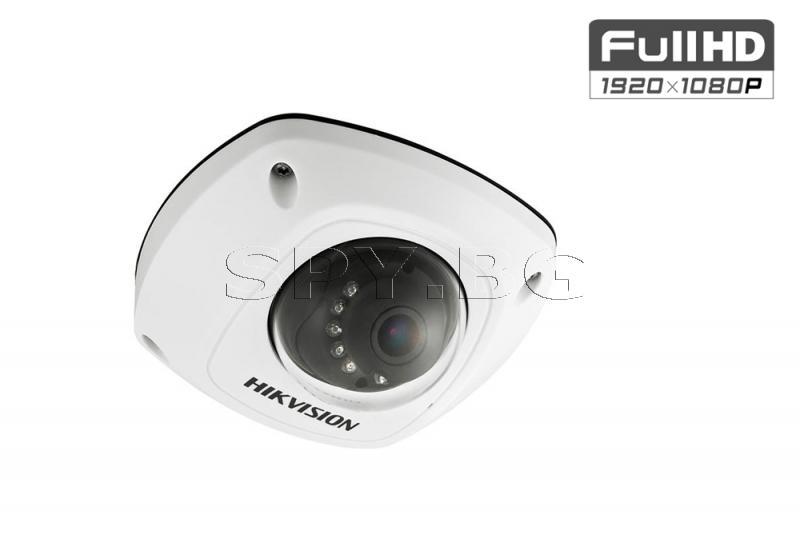 Компактна вандалоустойчива куполна IP камера HIKVISION