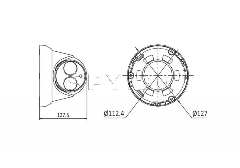 Куполна IP камера 2MP