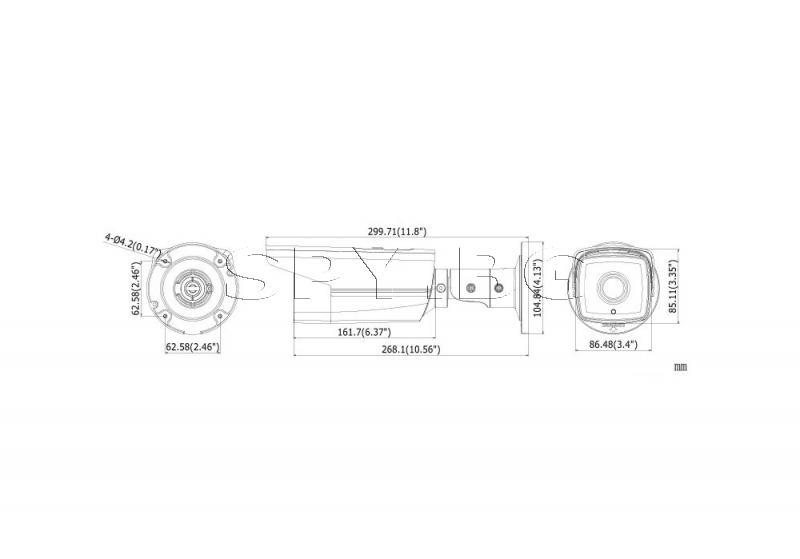 IP камера с EXIR технология с обхват до 50м HIKVISION