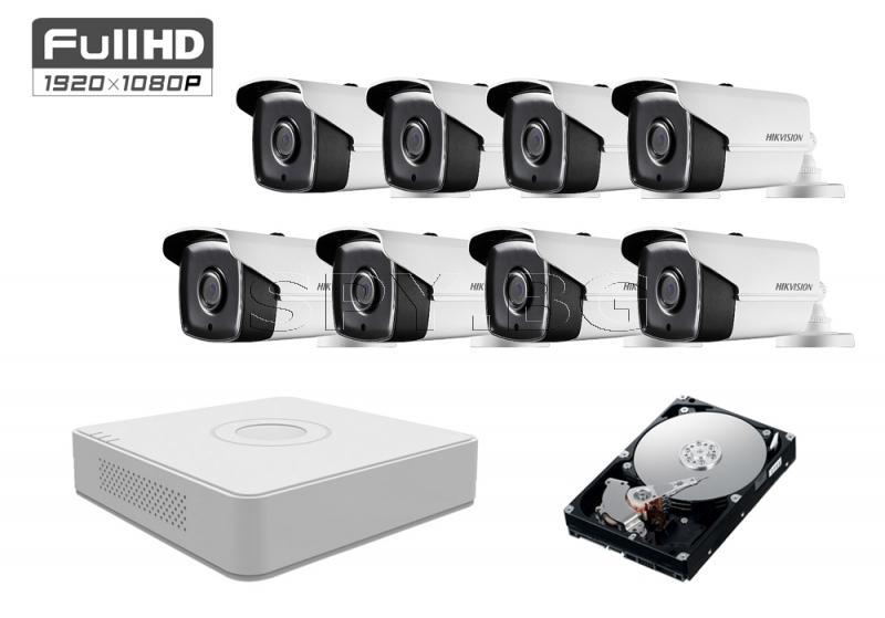 Комплект от 8 камери 2MP за малко производство HDD 1TB