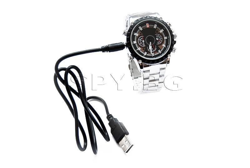 HD камера в ръчен часовник с детектор за движение