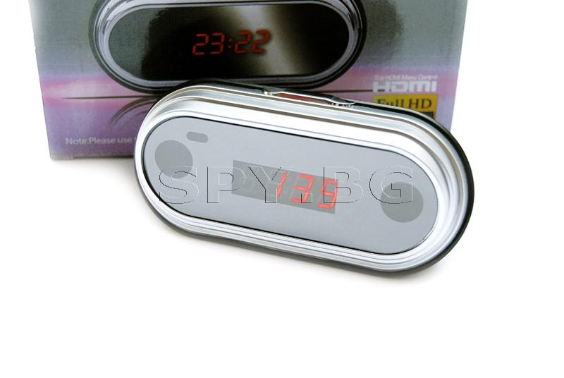 Full HD камера в настолен часовник с датчик за движение