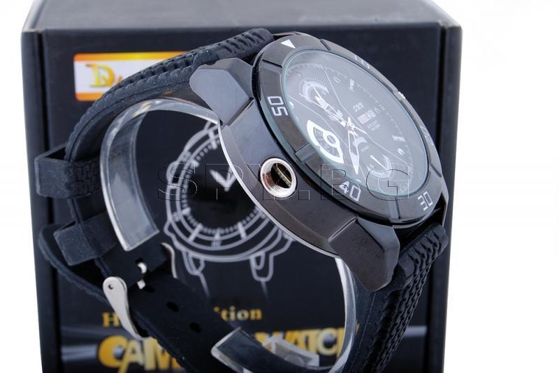HD камера с детектор за движение в ръчен часовник