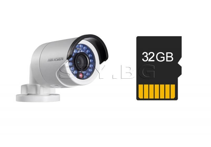 IP камера HIKVISION 1,3MP и карта 32GB