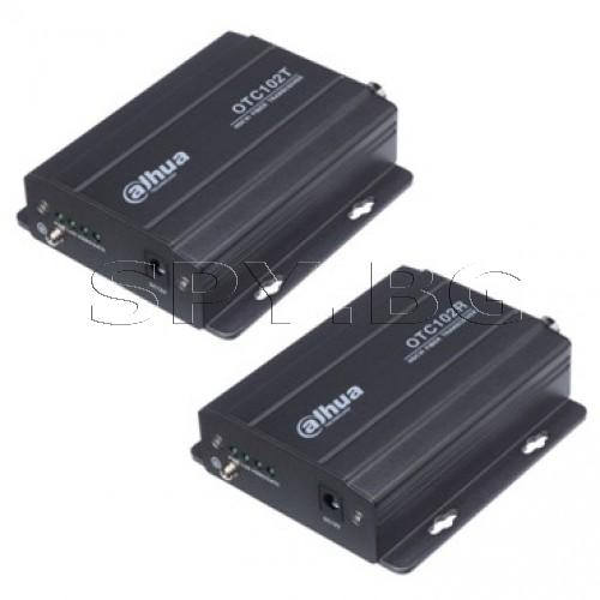 Приемник за пренос на 1 HDCVI видеосигнал до 20км Dahua