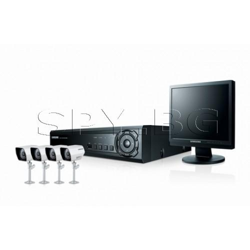 Комплект 4 камери, DVR и  LCD монитор SAMSUNG