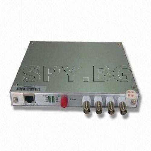 Приемник/предавател за пренос на 4 видеосигнала до 40км