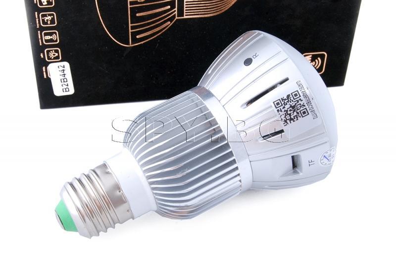 IP камера в електрическа лампа(сива)