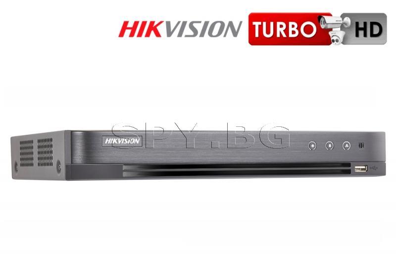 8-канален пентабриден HD-TVI/AHD/CVI/IP HIKVISION цифров рекордер до 6MP + 2IP