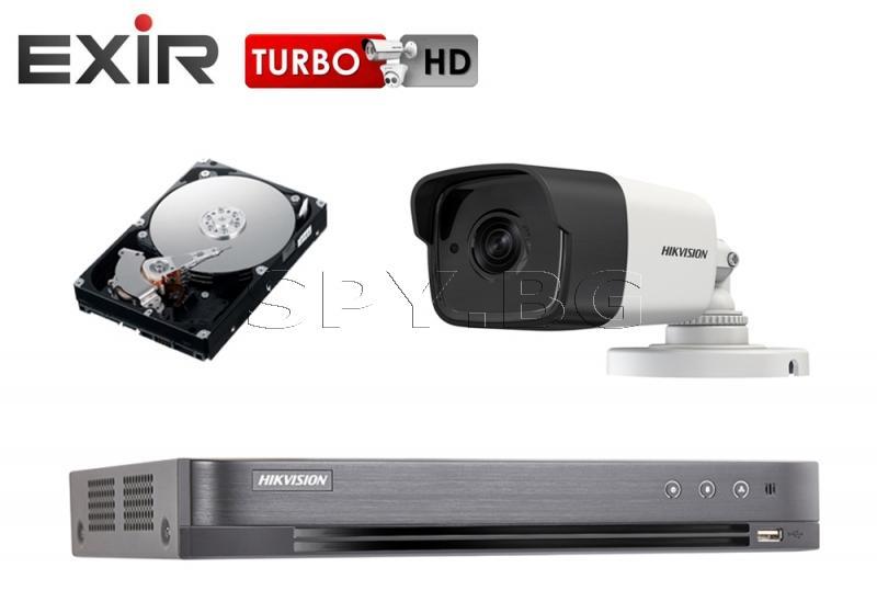 Камера 5MP HIKVISION с рекордер и 1TB твърд диск
