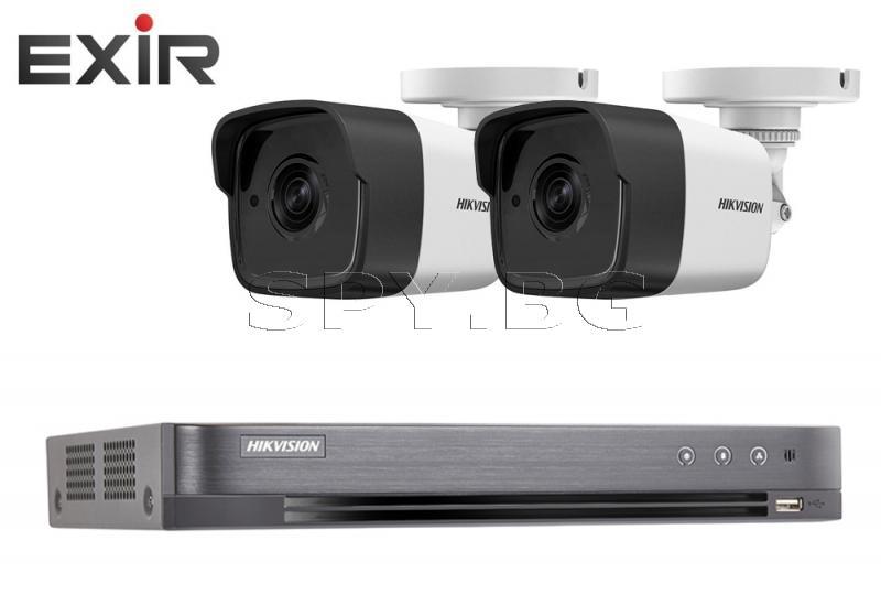 Комплект 2 камери 3MP HIKVISION EXIR и HDD 500GB