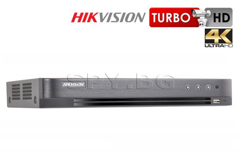 4-канален 4K пентабриден HD-TVI/AHD/CVI/CVBS/IP цифров рекордер HIKVISION