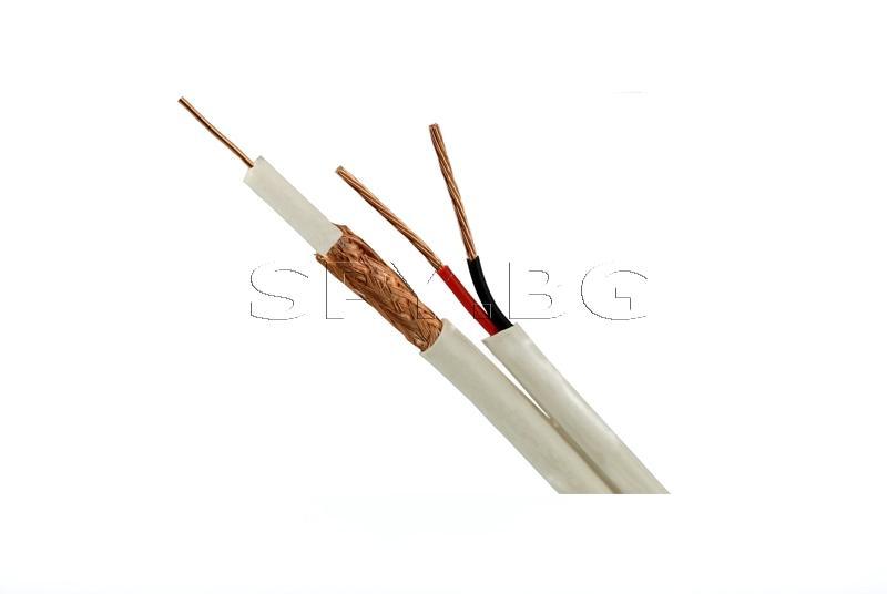 Коаксиален кабел RG59 CU + 2x0,75mm
