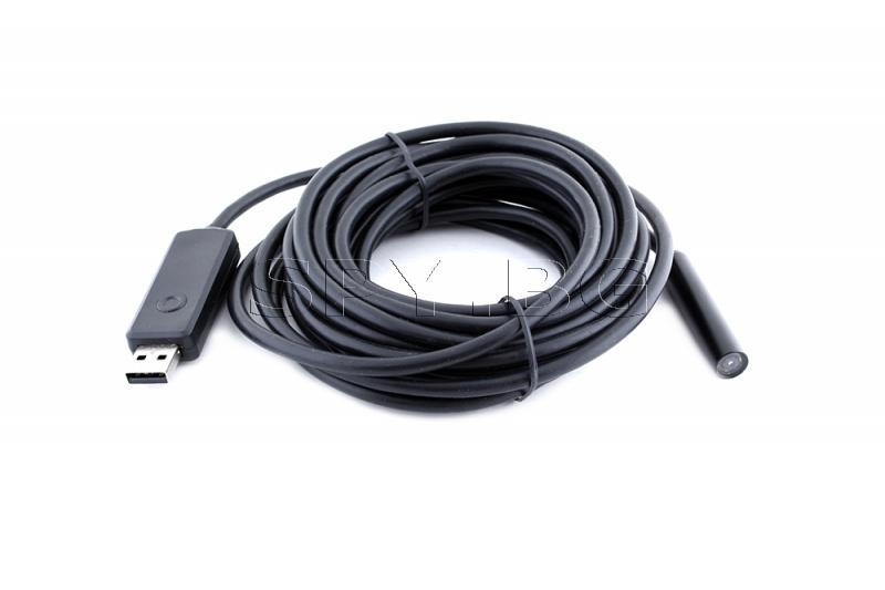 USB ендоскоп - 5 м с 10 мм камера