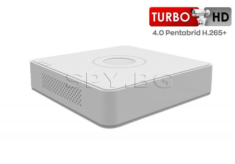4-канален пентабриден HD-TVI/AHD/CVI/IP цифров рекордер - HIKVISION