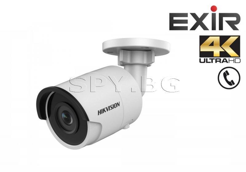 4K UltraHD IP камера Ден/Нощ, EXIR технология с обхват до 30м - HIKVISION