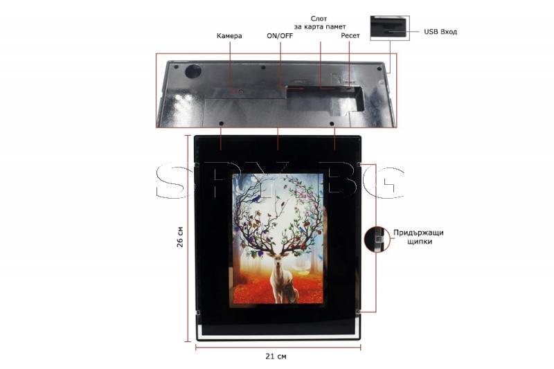 IP камера, скрита в картина